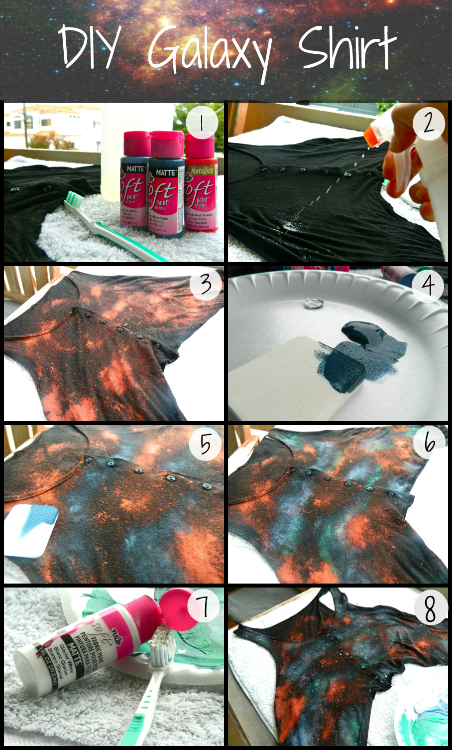 diy galaxy print tank obsessed. Black Bedroom Furniture Sets. Home Design Ideas
