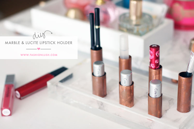 A Chic Functional Diy Lipstick Holder
