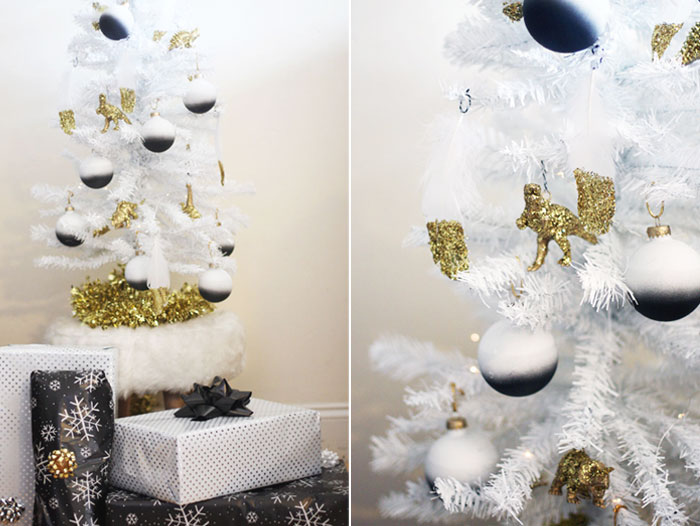 ombre ornaments fashionlush minimalist christmas tree holiday diy - White Christmas Tree Ornaments