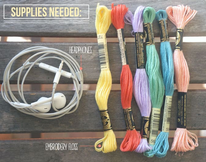 DIY Friendship Wrapped Earbuds