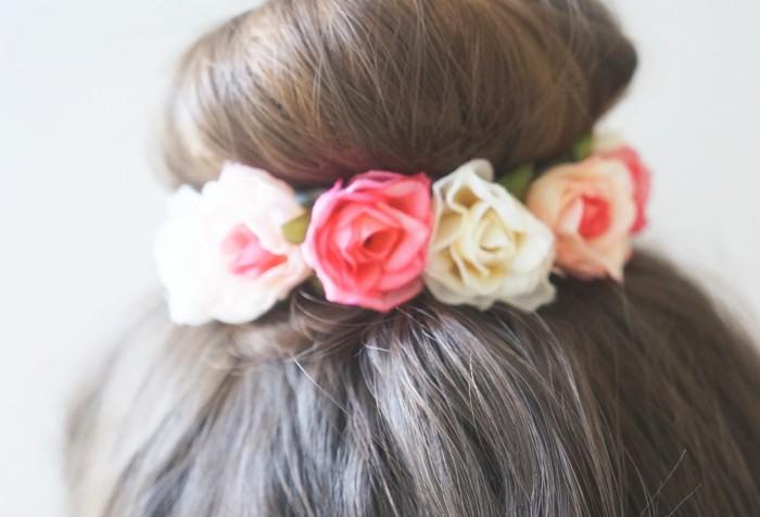Diy Flirty Flower Bun Wrap Ft Twistband