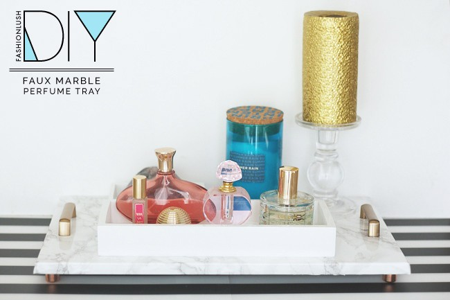 Diy Faux Marble Perfume Tray