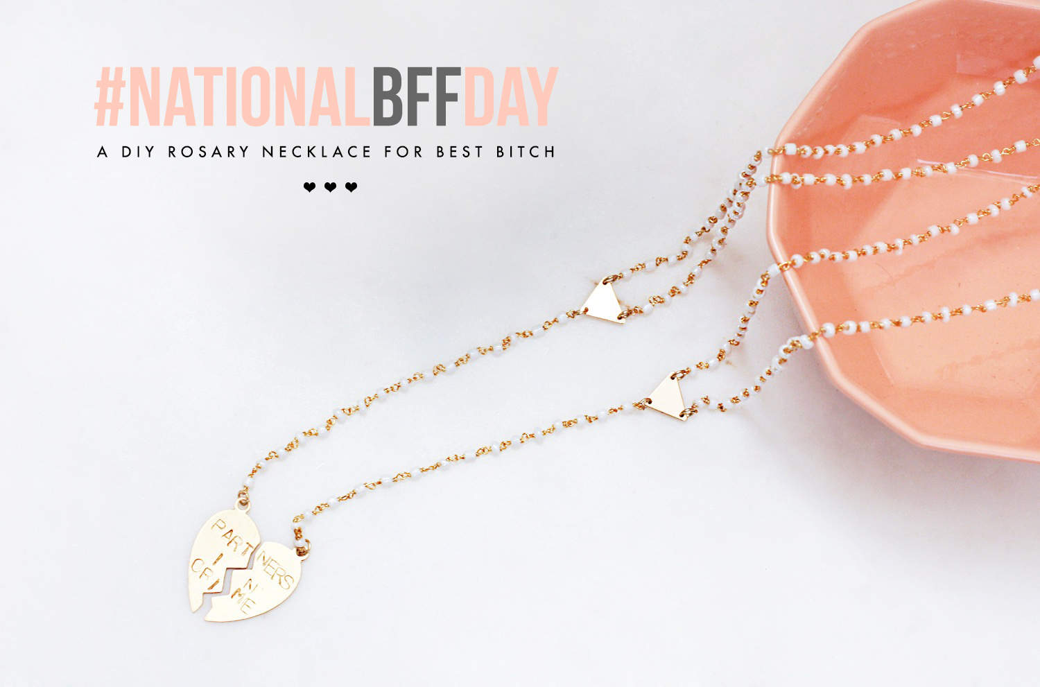 Diy Not Your Average Cheesy Bff Necklace