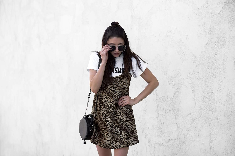 fashionlush, north west style, thrasher shirt, leopard slip dress
