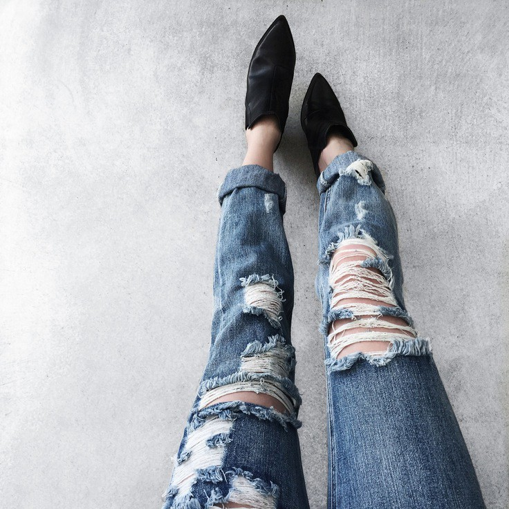 The Real Deal Way To Distress Your Denim