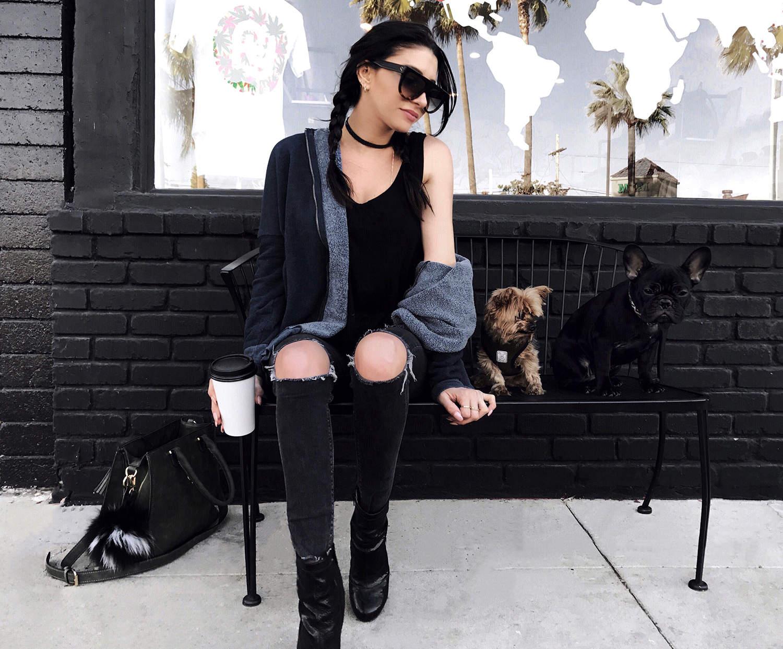 fashionlush, style blogger, wildfox hoodie