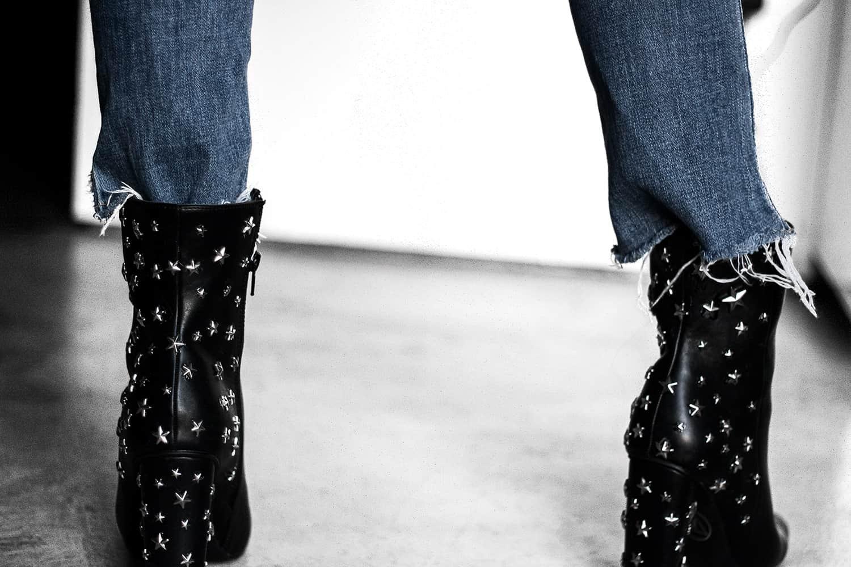 DIY Star Embellished Booties