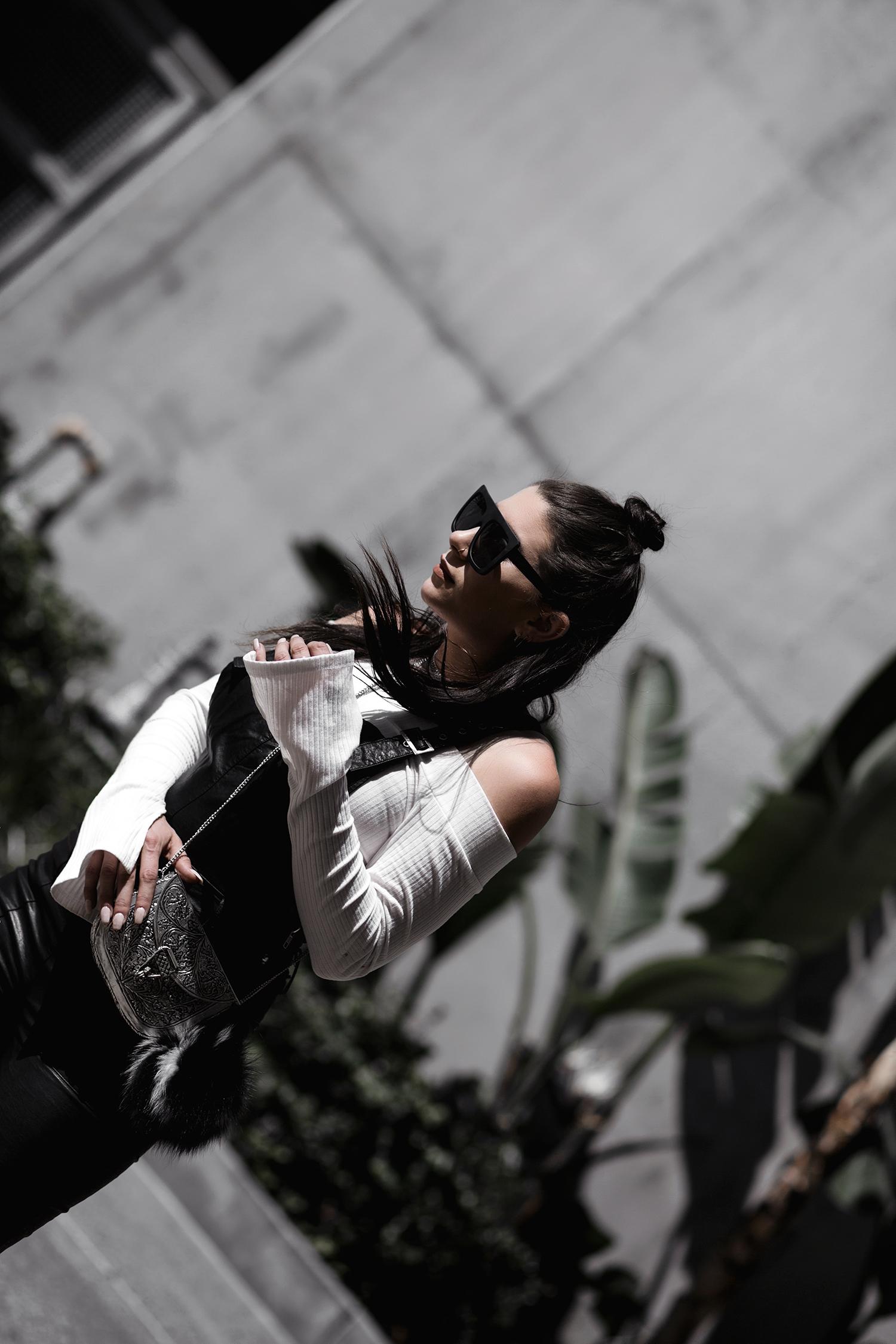 fashionlush, leather overalls, blogging relationship