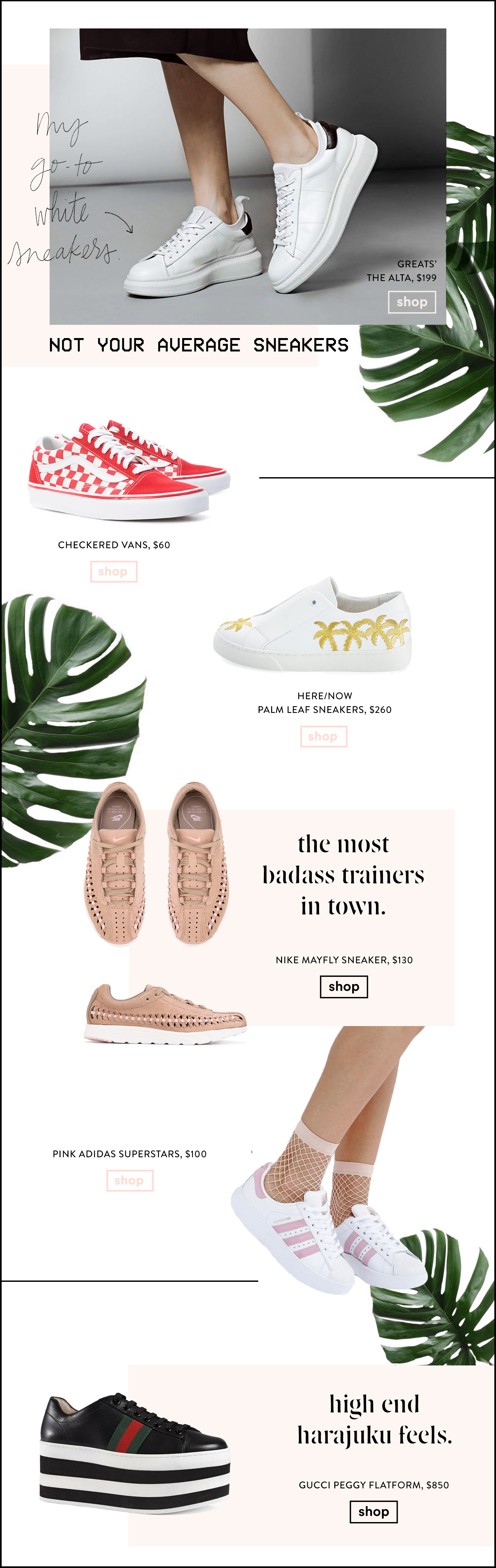 The best sneakers: Not Your average sneakers by Fashion Blogger Erica Stoleman