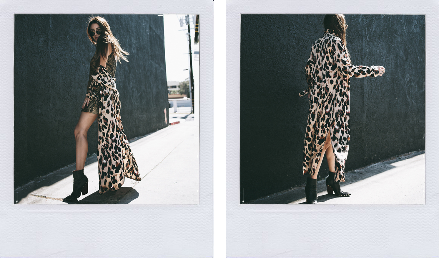 erica stolman wearing leopard trench coat. How to cleanse your mind by living a minimalist life