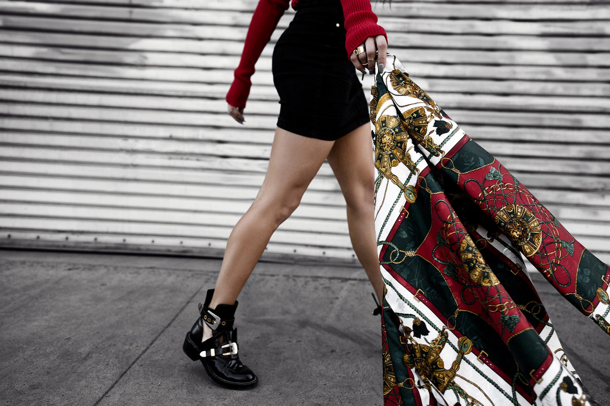 fashionlush scarf print blazer