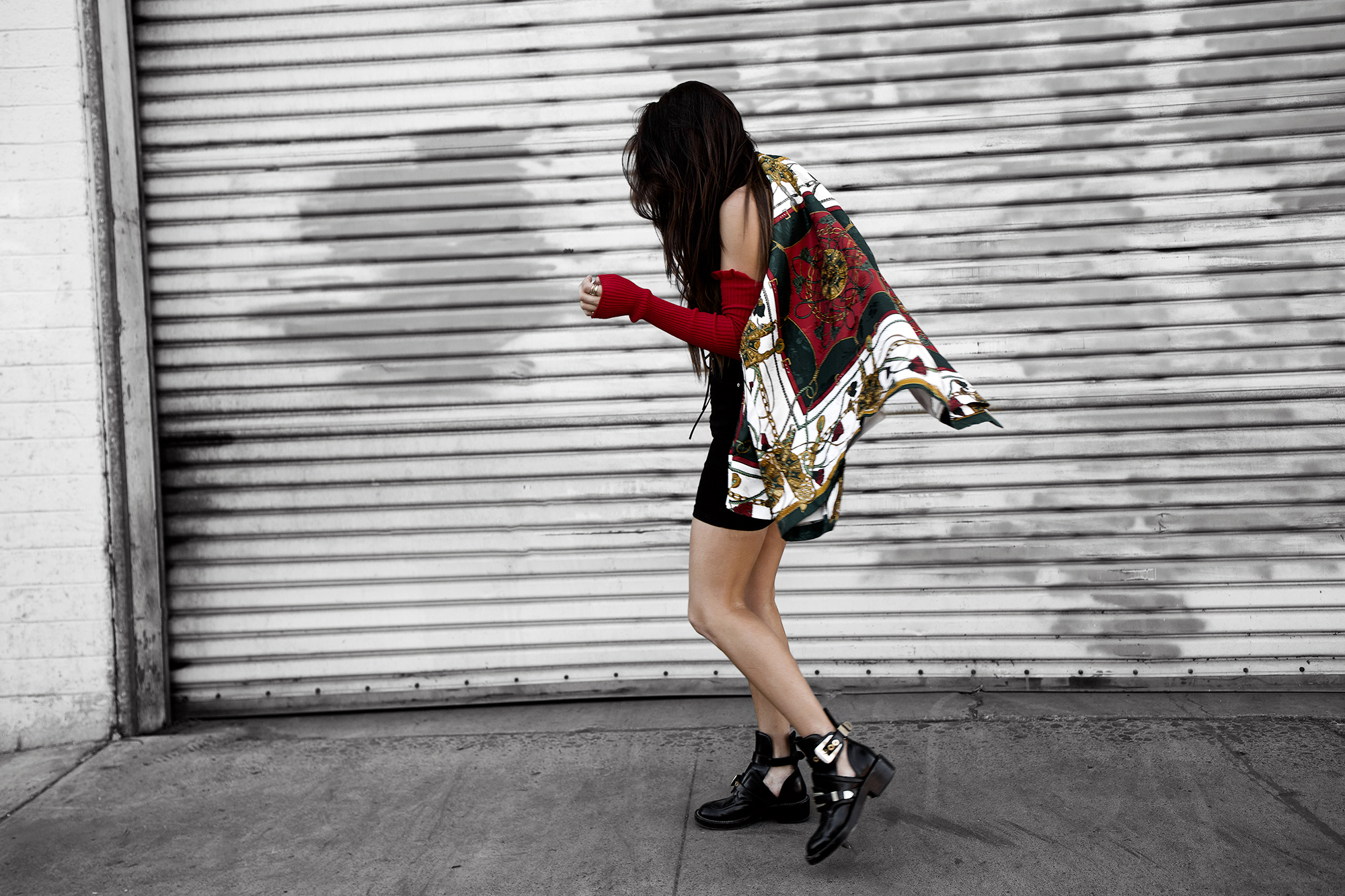 fashion blogger versace inspired scarf print