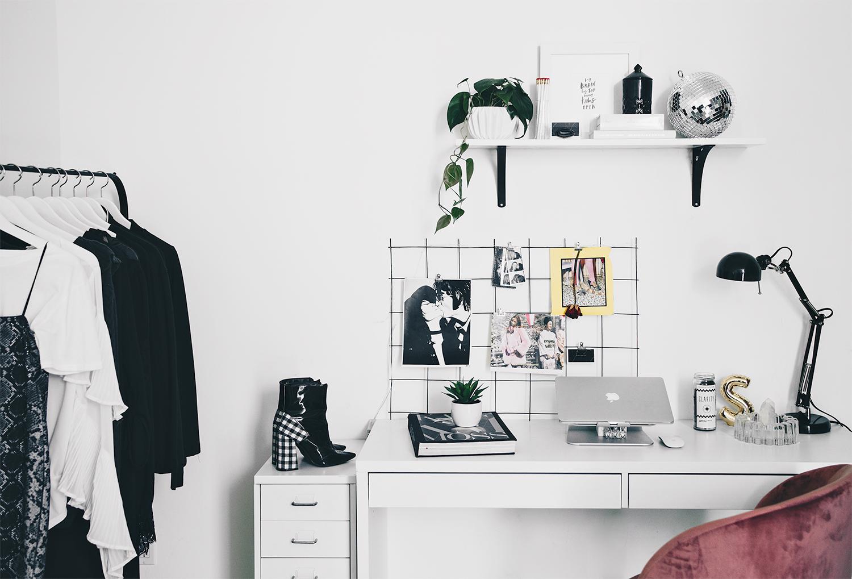 minimal office decor, fashionlush