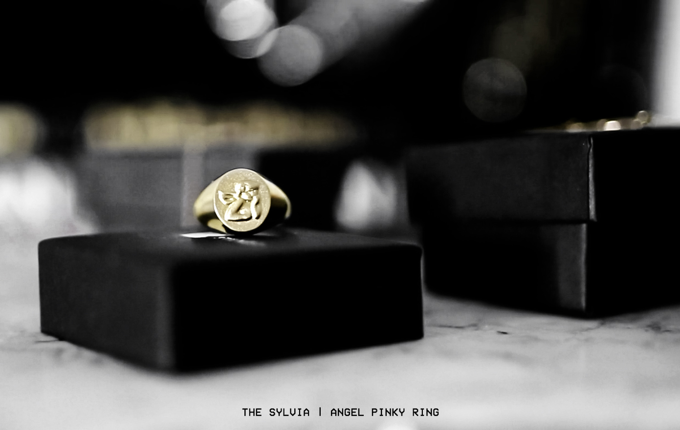 fashionlush jewelry collection, angel pinky ring