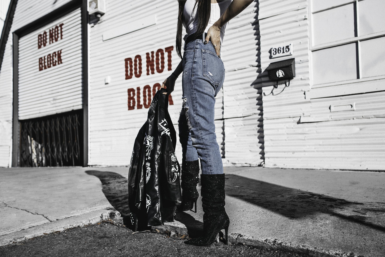 fashionlush, leather street style blogger