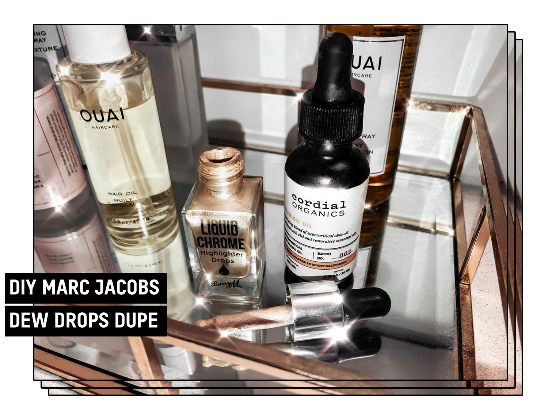 fashionlush, marc jacobs dew drops dupe, diy