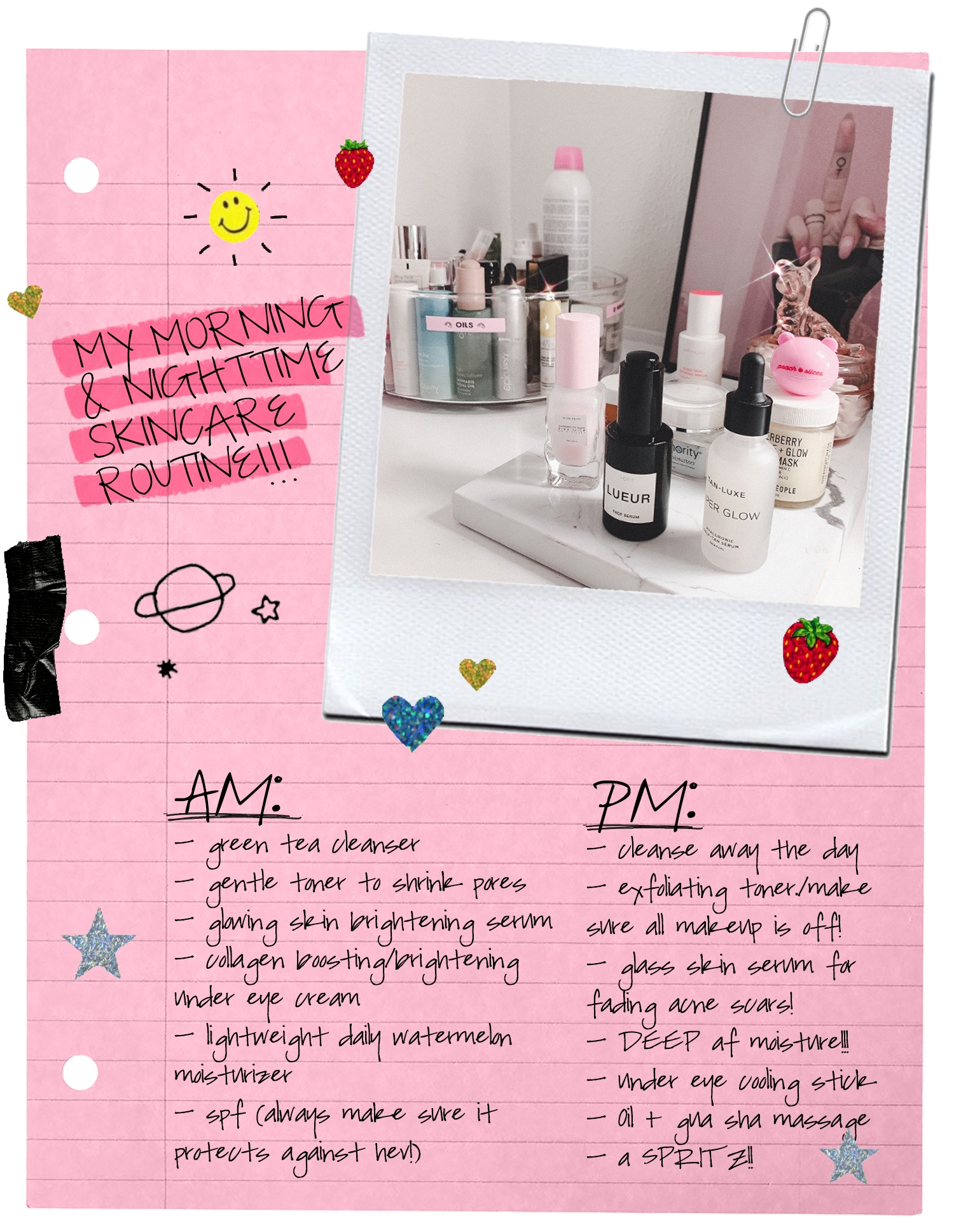 My *COMPLETE* Morning & Nighttime Skincare Routine for Glowing