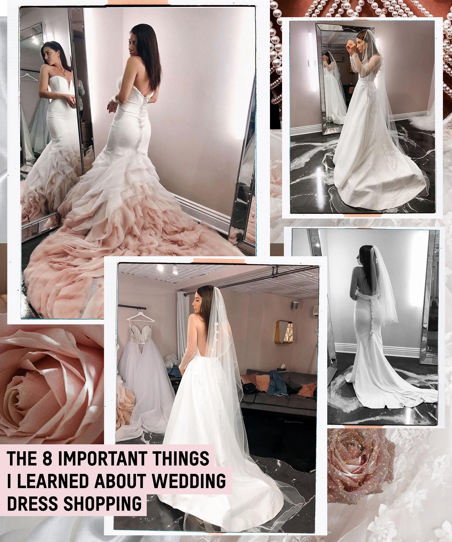 fashionlush, wedding dress shopping, tips, lessons