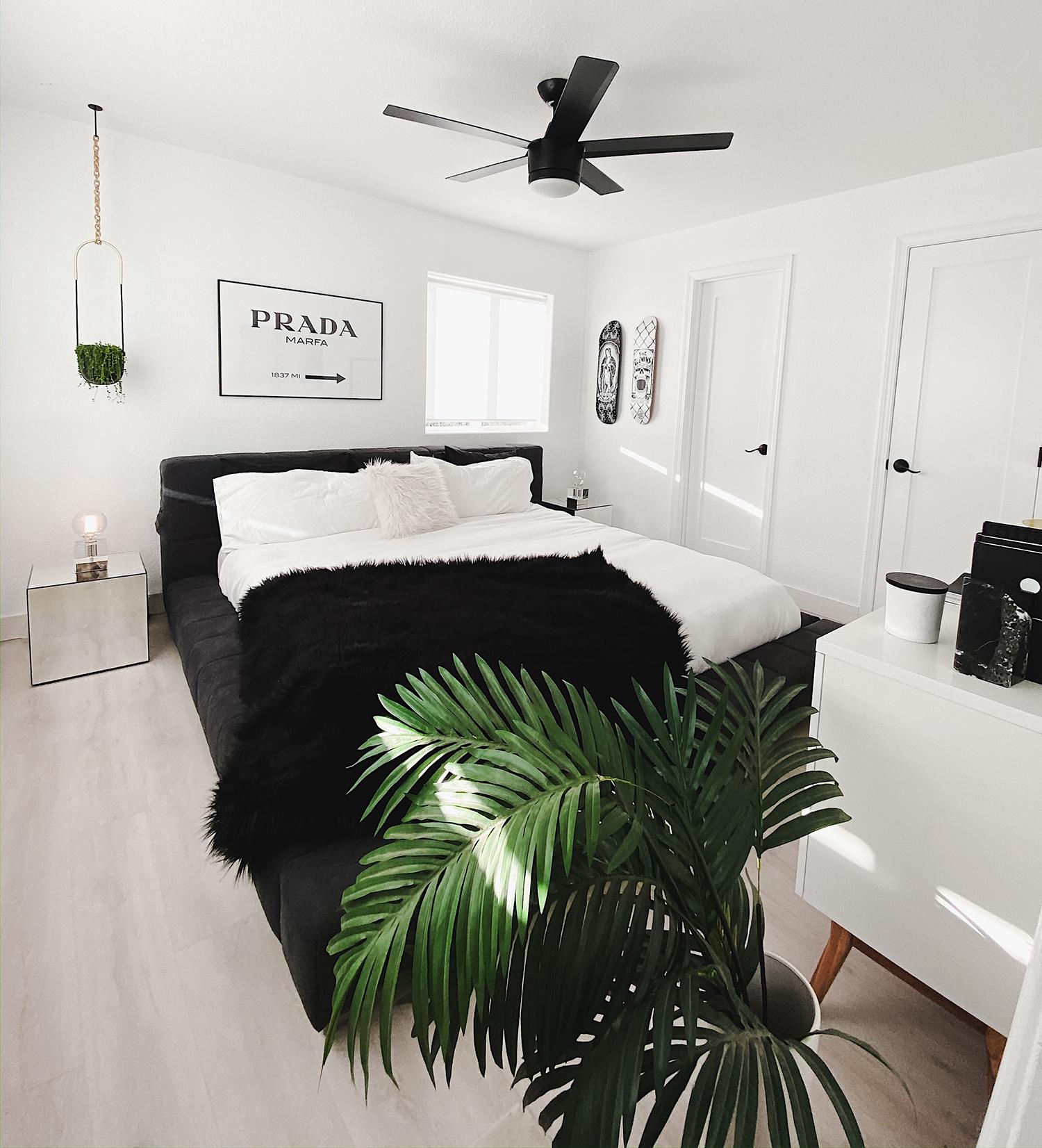 Our Black & White Gender Neutral Master Bedroom